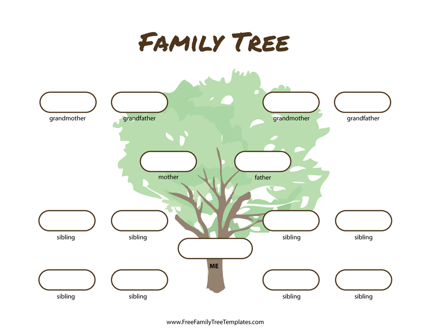 3 generation family tree many siblings template free family tree