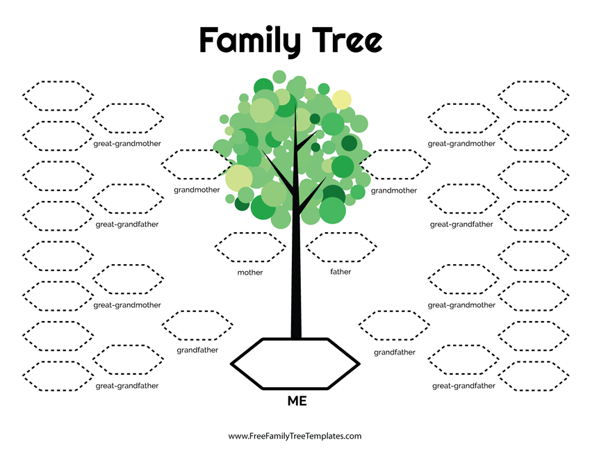 5 Generation Family Tree Template Free Family Tree Templates