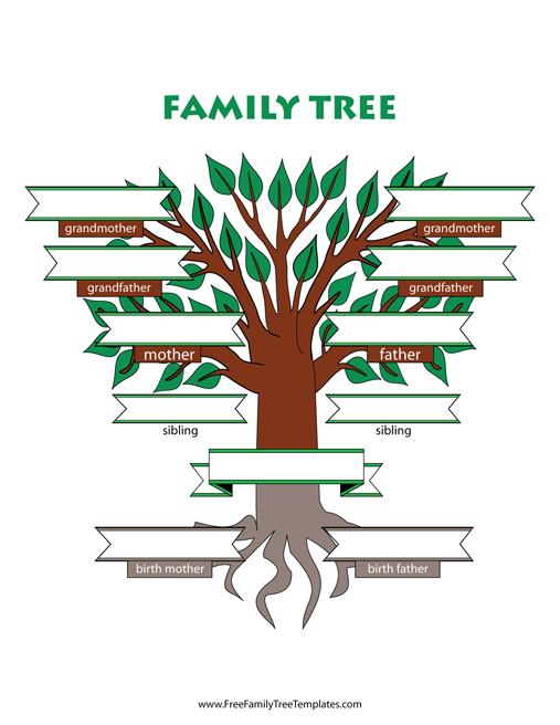 Adoptive Family Tree With Siblings Template Free Family Tree Templates