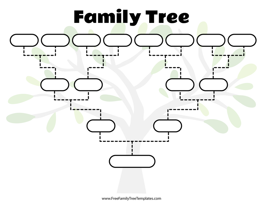 photo about Tree Pattern Printable titled Cost-free Loved ones Tree Templates - for A+ Assignments