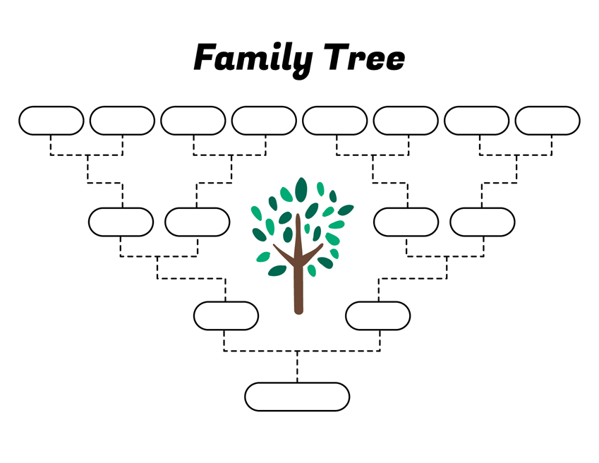 simple family tree template  u2013 free family tree templates