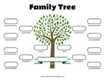 simple family tree template free family tree templates