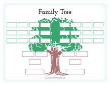 Family Tree With Aunts, Uncles And Cousins Template – Free Family ...
